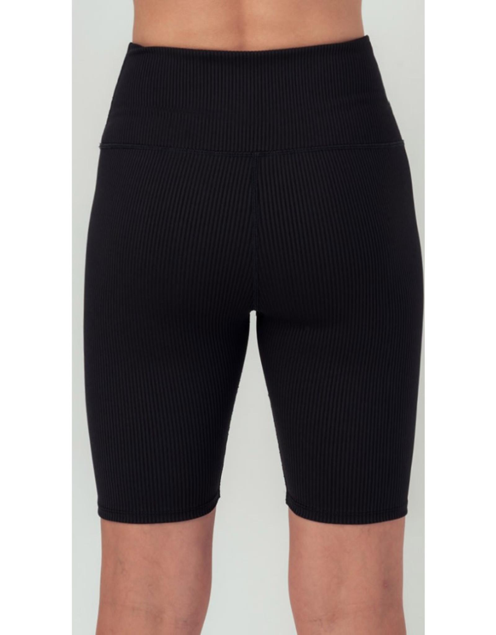 Ribbed Knit Biker Shorts