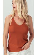 Knit Tank Top - Burnt Orange