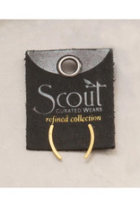 Comet Curve Earrings - Gold Vermeil