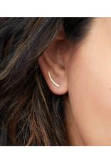 Comet Curve Earrings - Sterling Silver