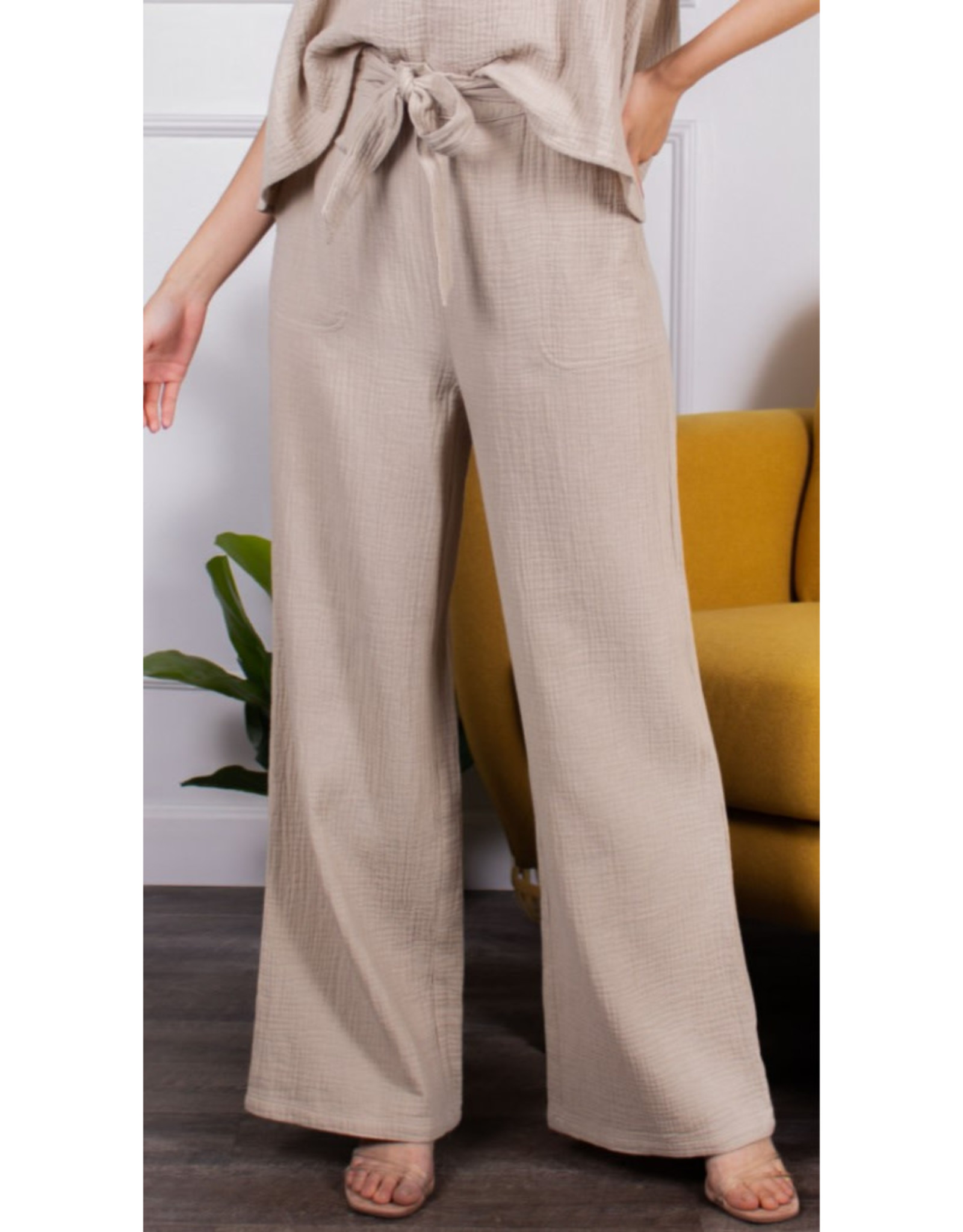 Gauzy Wide Leg Pants