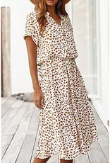 Dot Print Midi Dress