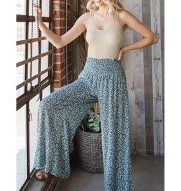 Flowy Pants with Smocked Waist