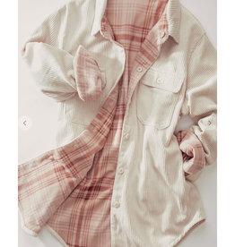 Reversible Corduroy Jacket in Cream