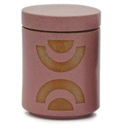 Mauve Ceramic Candle w/ Lid - Mandarin Mango 12oz