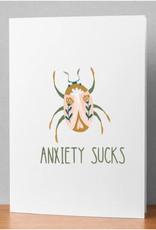 """""""Anxiety Sucks"""" Card"""