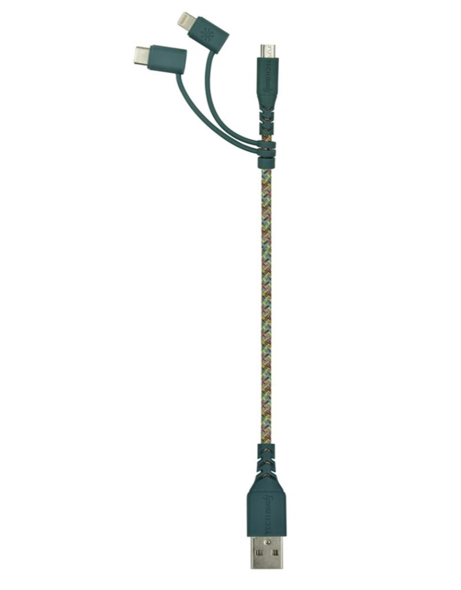 Mini USB Cable - 6 Inch - Multi