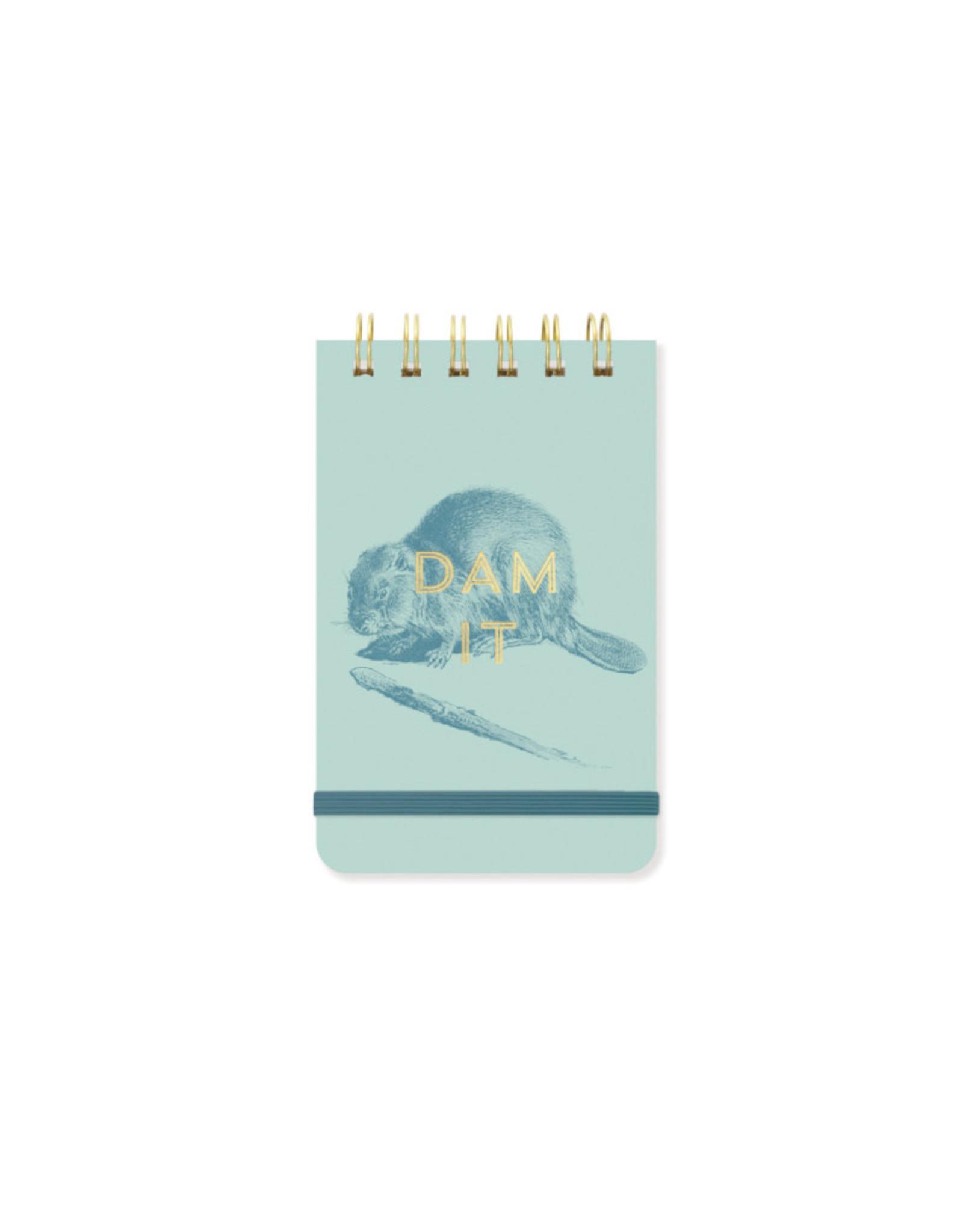 "Beaver ""Dam It"" Notepad"