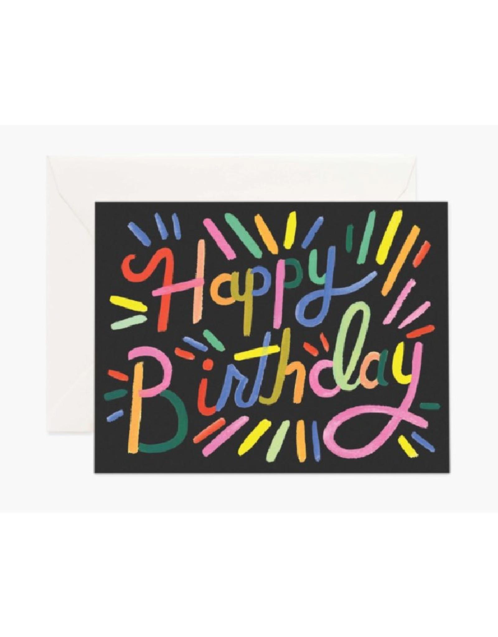 Fireworks Birthday Card