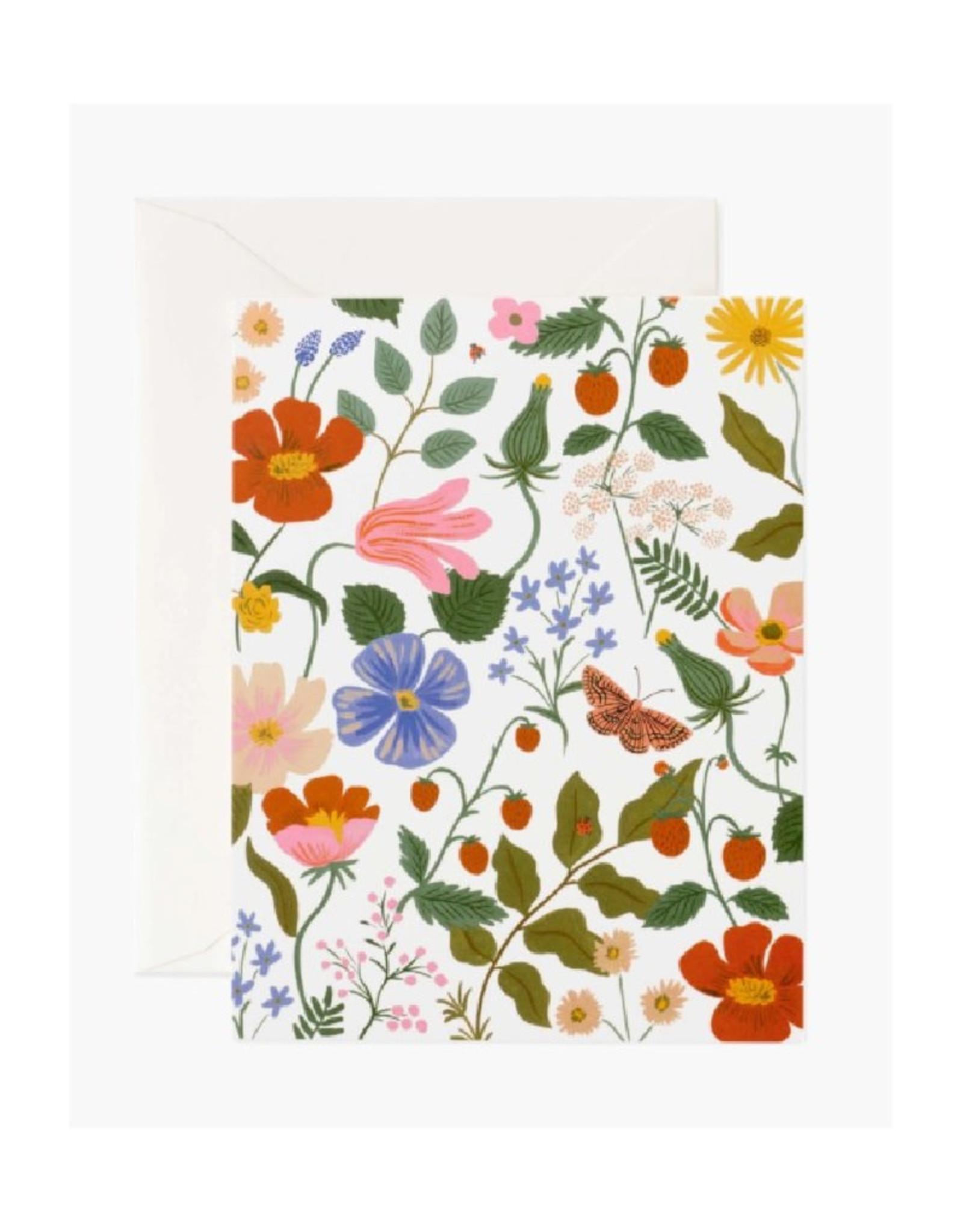 Strawberry Fields Card - Cream