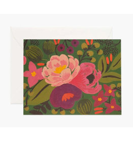 Vintage Blossoms Card - Green