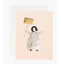 Welcome Little One Card - Penguin