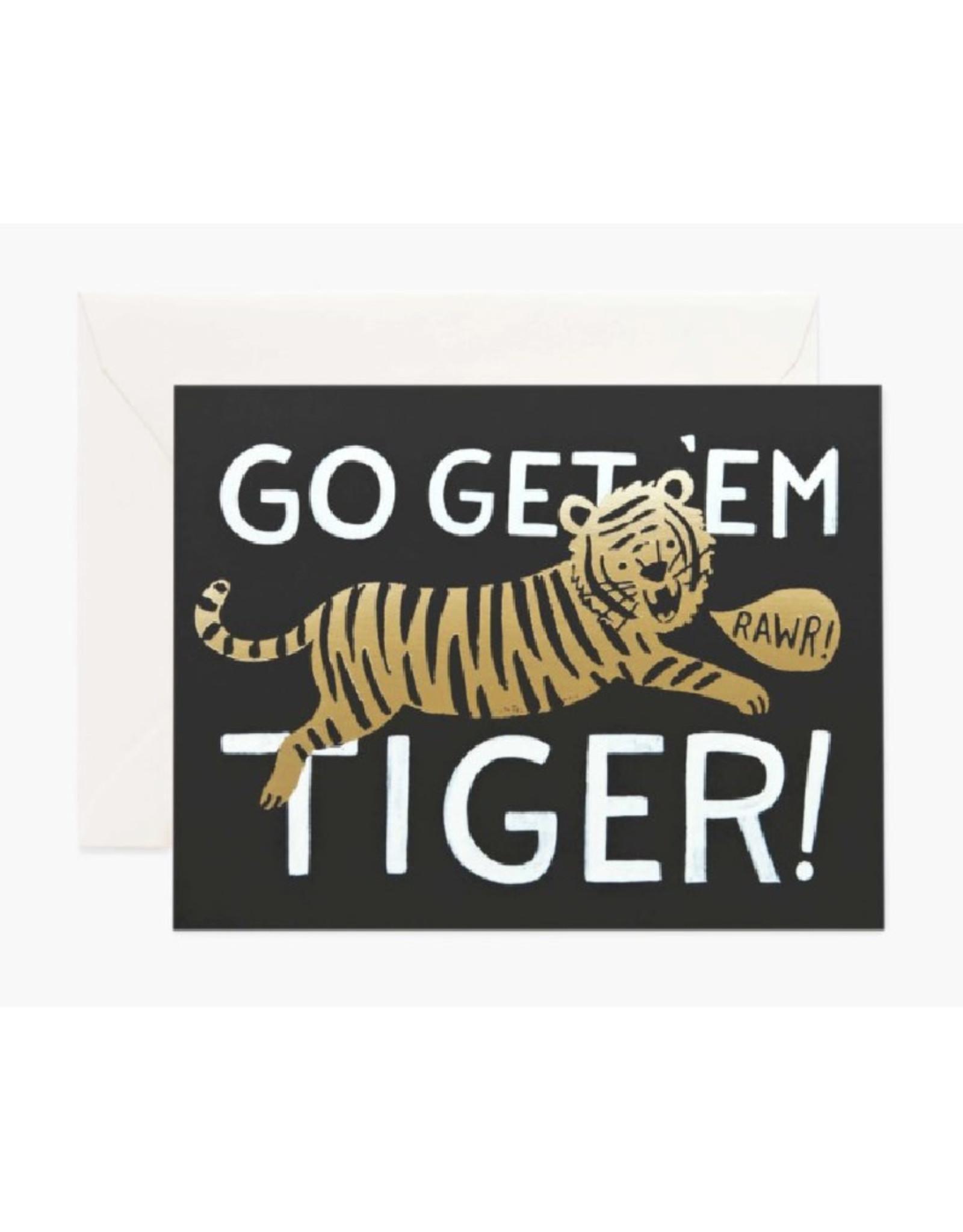 """""""Go Get 'Em Tiger"""" Card"""