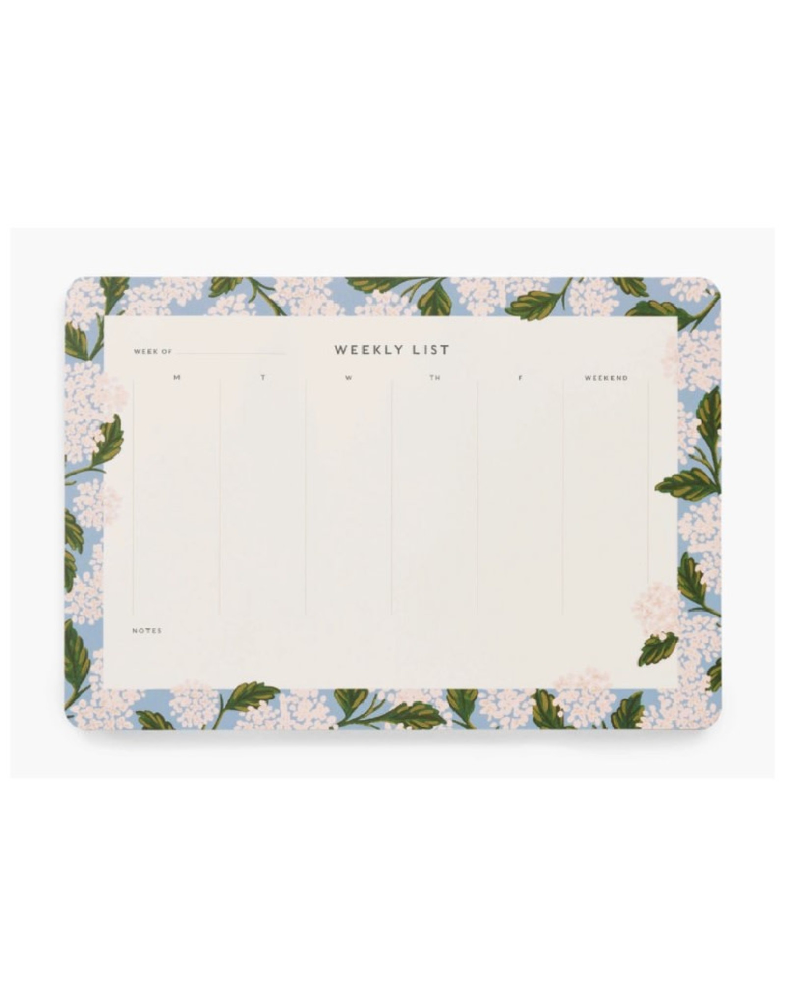 Hydrangea Weekly Desk Pad