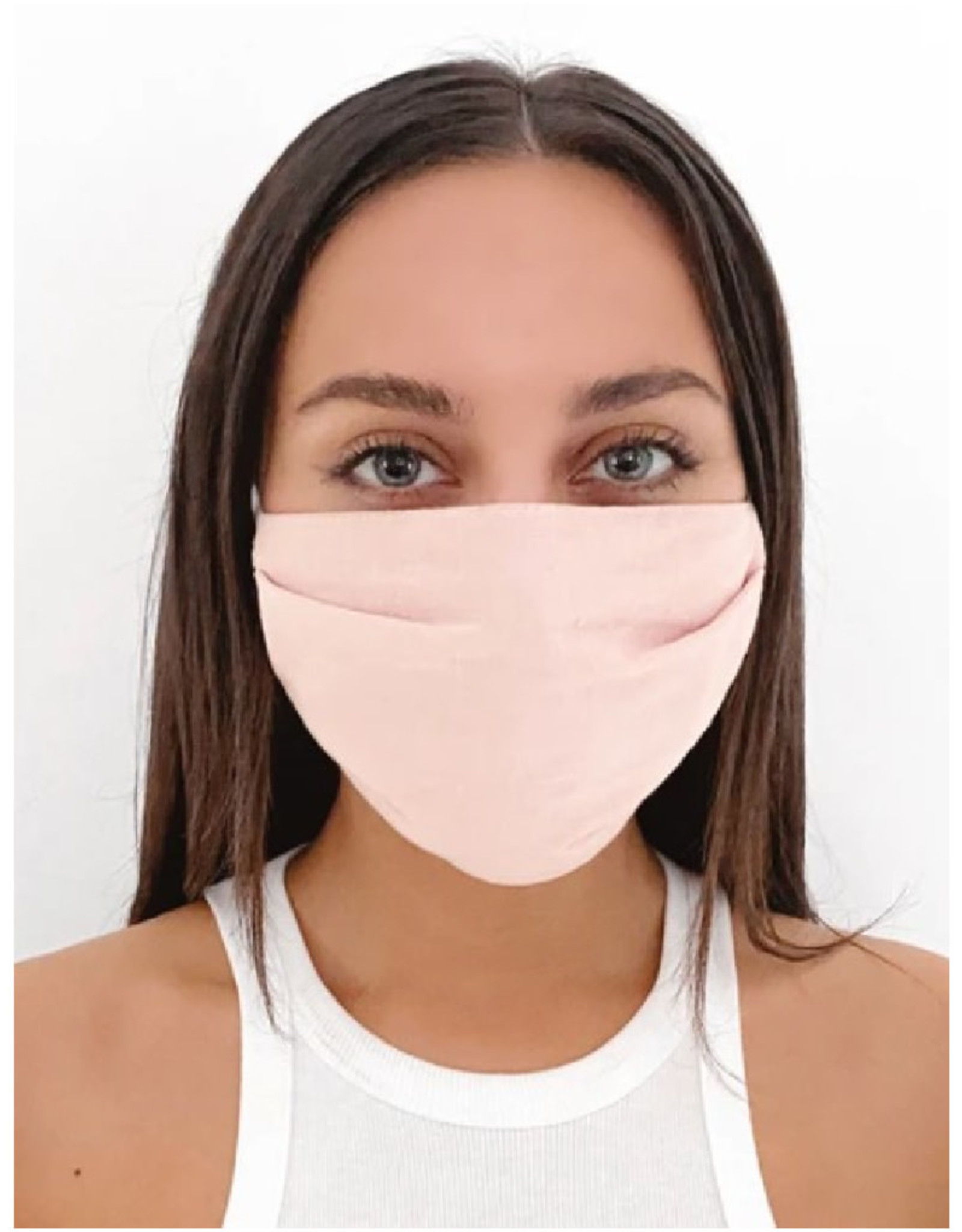 Solid Pink Face Mask
