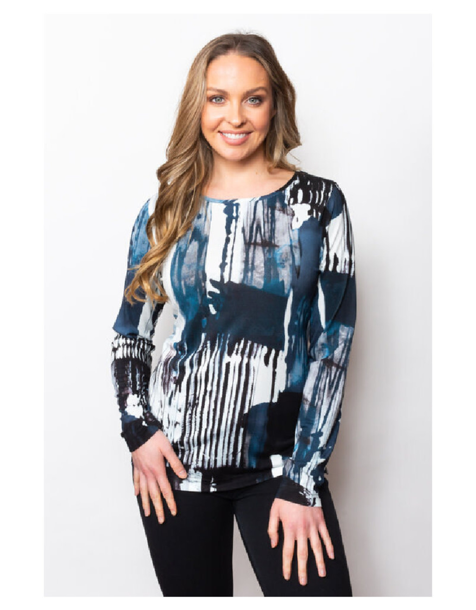 Abstract Stripe Top