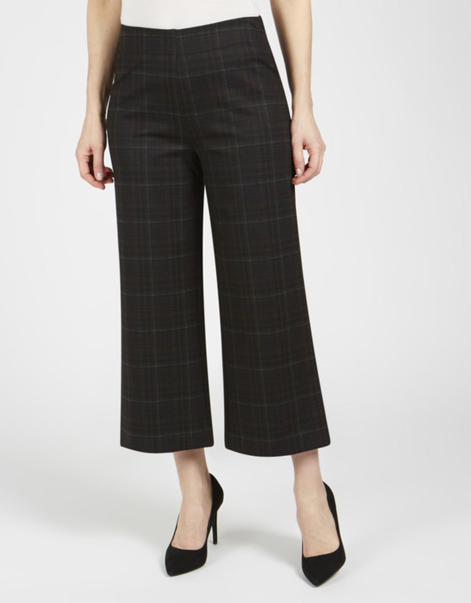 Pull-On Plaid Gaucho Pants