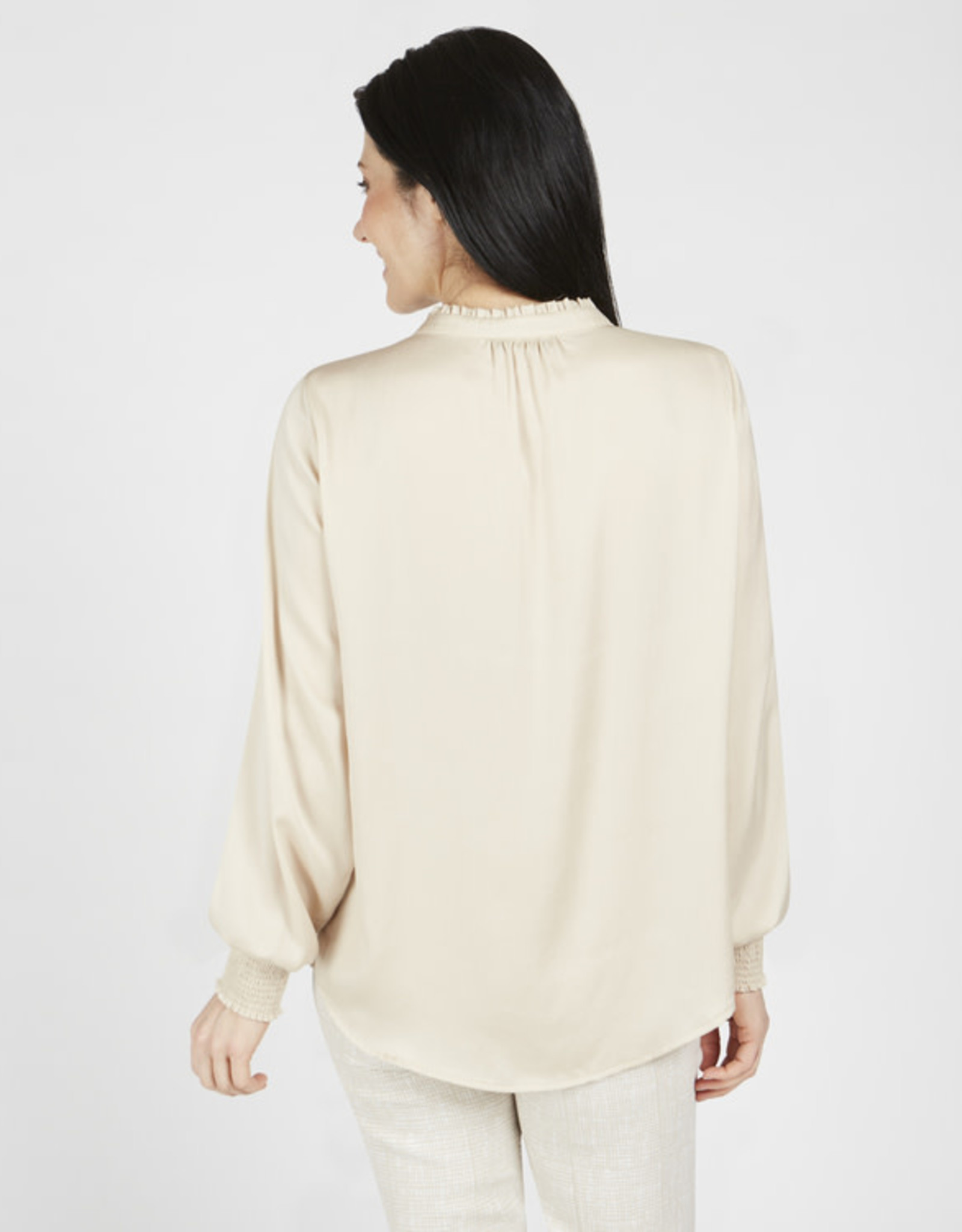 Gathered Neck Top in Cashew