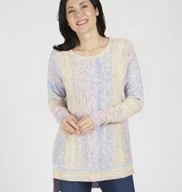 Watercolor Tunic Sweater