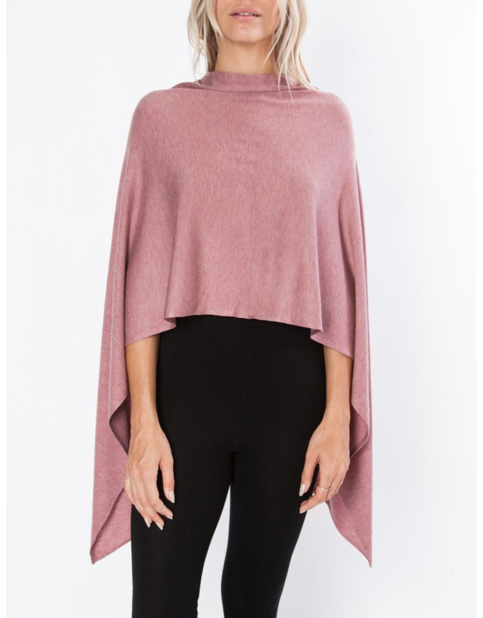 The Eden Poncho in Dusty Pink