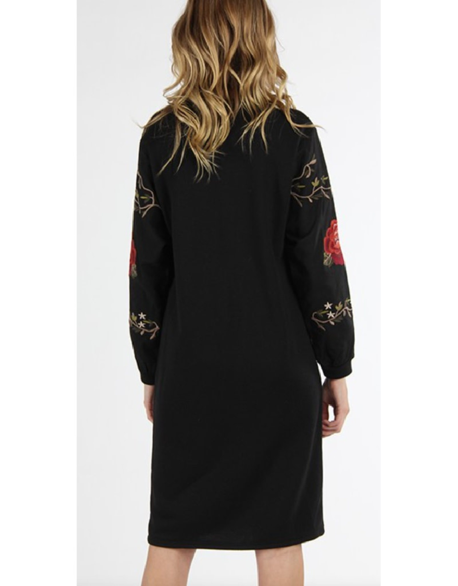 Rose Embroidered Midi Dress