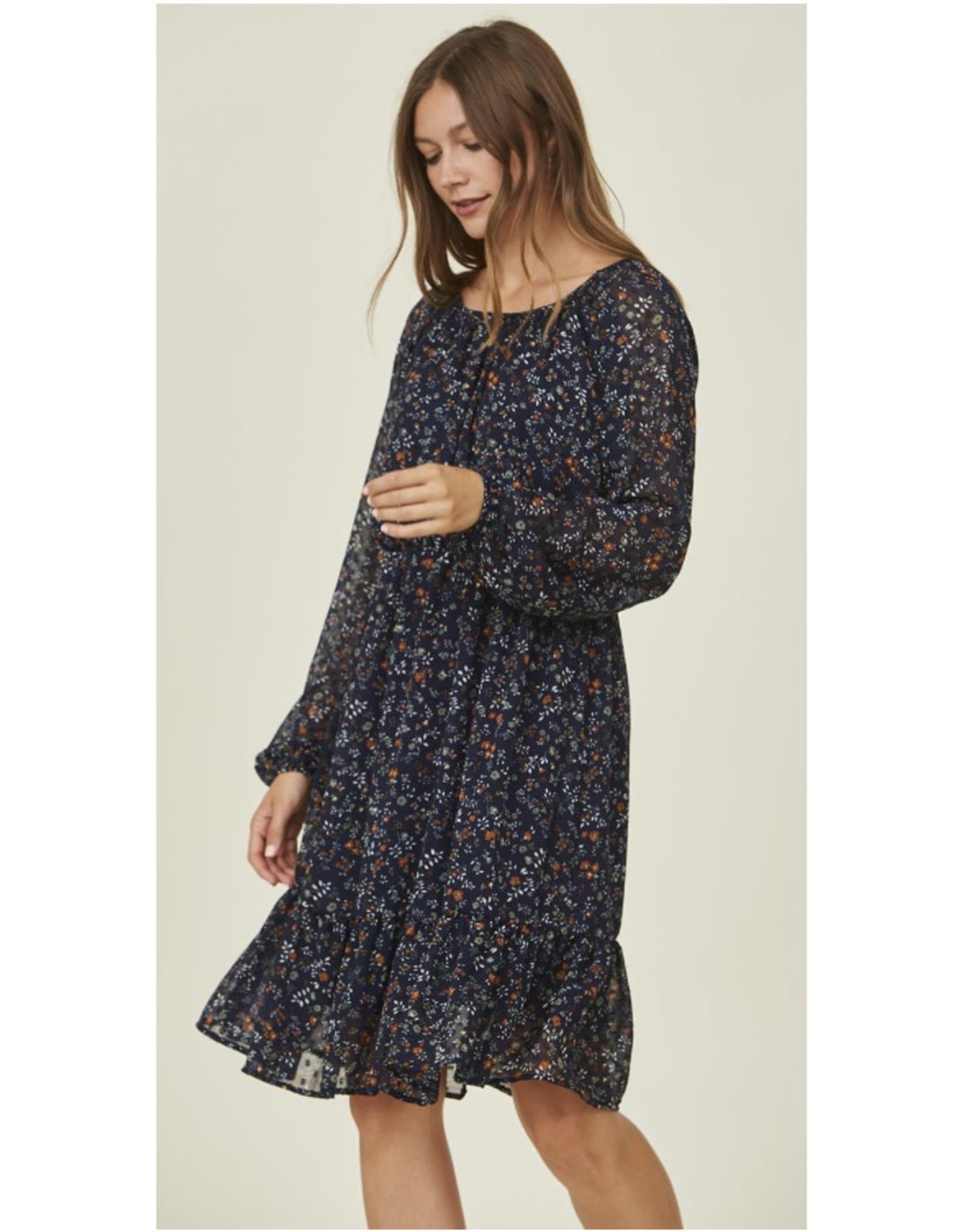 Tiered Ruffle Midi Dress