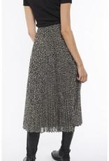 Print Pleated Midi Skirt
