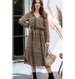 Chiffon Smocked Midi Dress