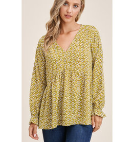 Ditsy Baby  Doll Top