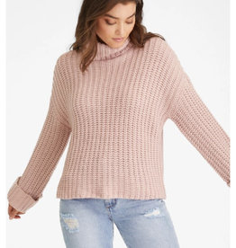 Wide Sleeve Turtleneck Sweater in Quartz