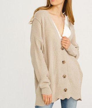 Long Sleeve Textured Cardigan