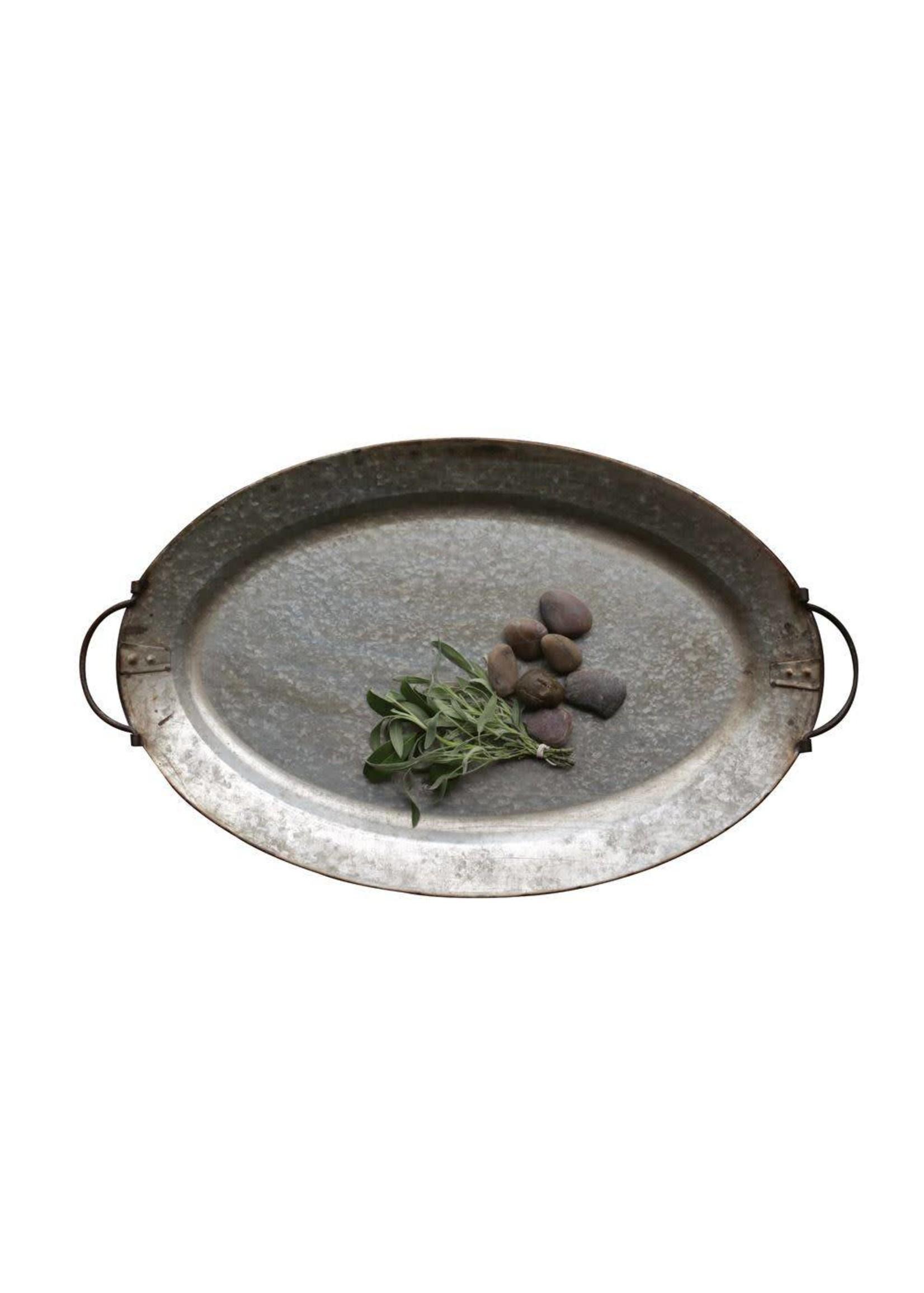 Decorative Metal Tray w/ Handles