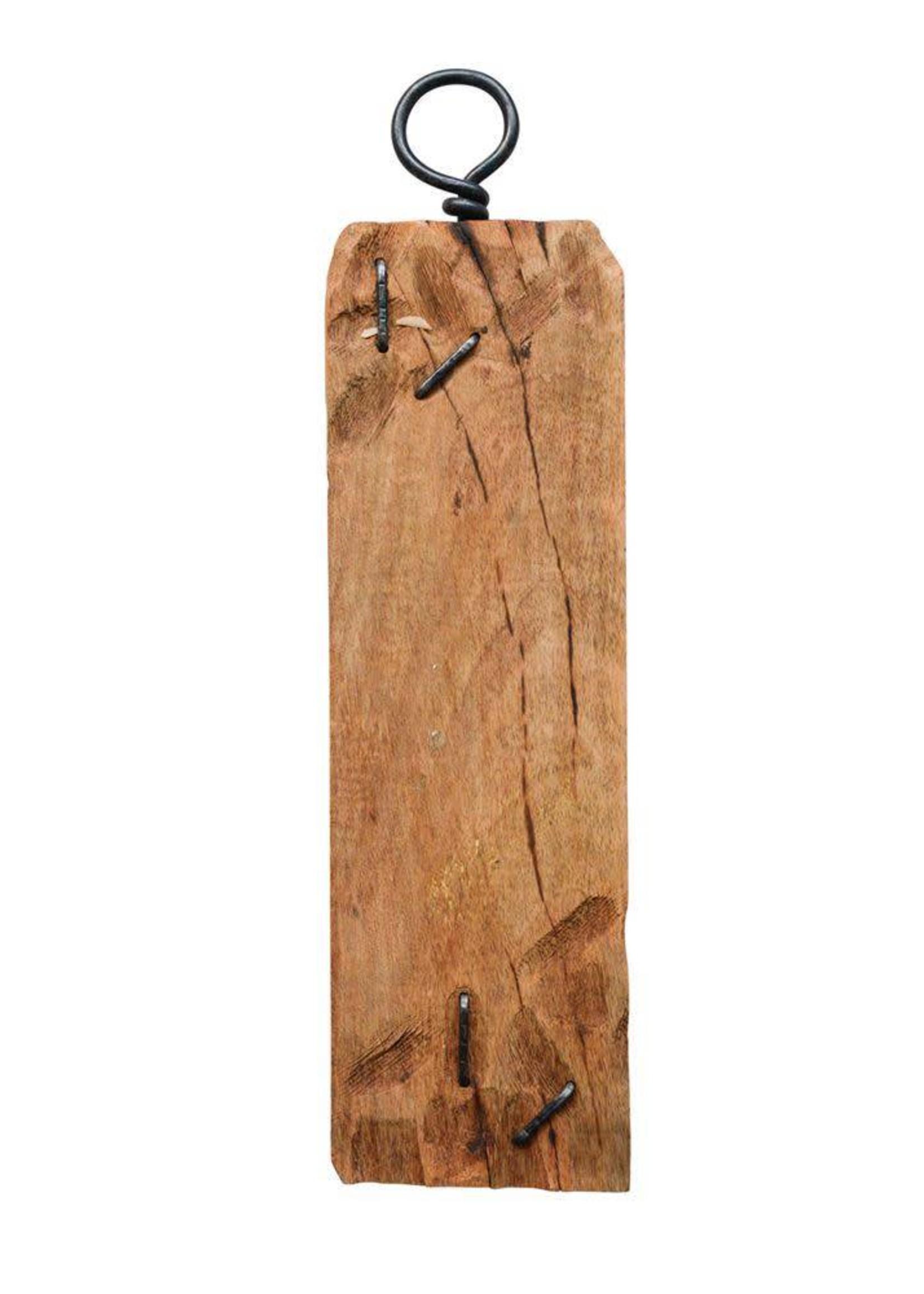 Mango Wood Tray w/ Metal Hook