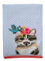 Cat Embroidered Tea Towel