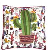 Cactus Embroidered Pillow