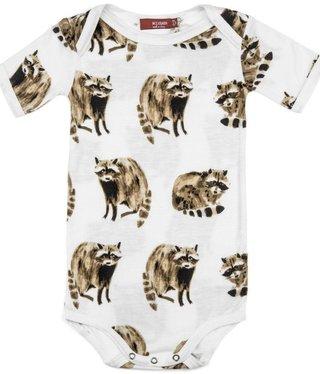 Milk Barn Kids Bamboo One Piece Raccoon 6-12M