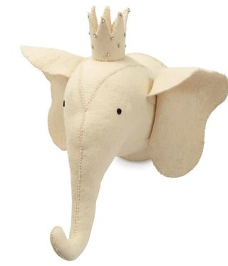 Ivory Elephant Wall Mount