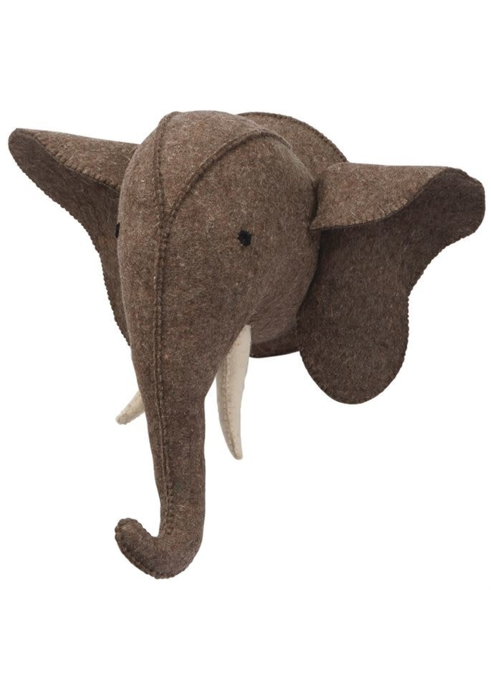 Brown Elephant Wall Mount