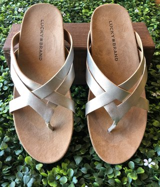 Lucky Brand Strappy Leather Sandal