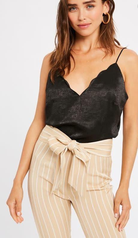Black Scallop Neck Camisole