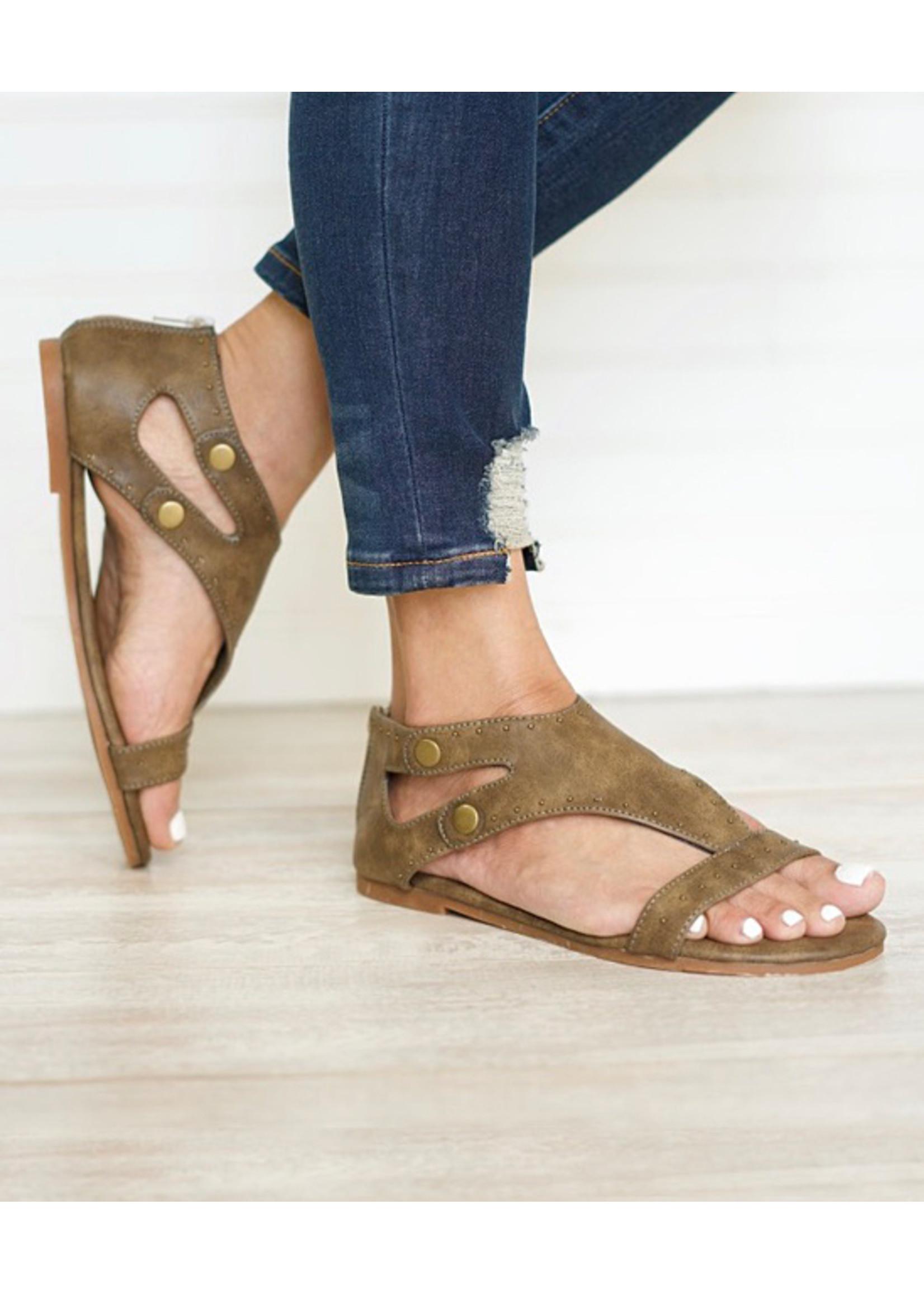 Roman Cut-Out Sandal