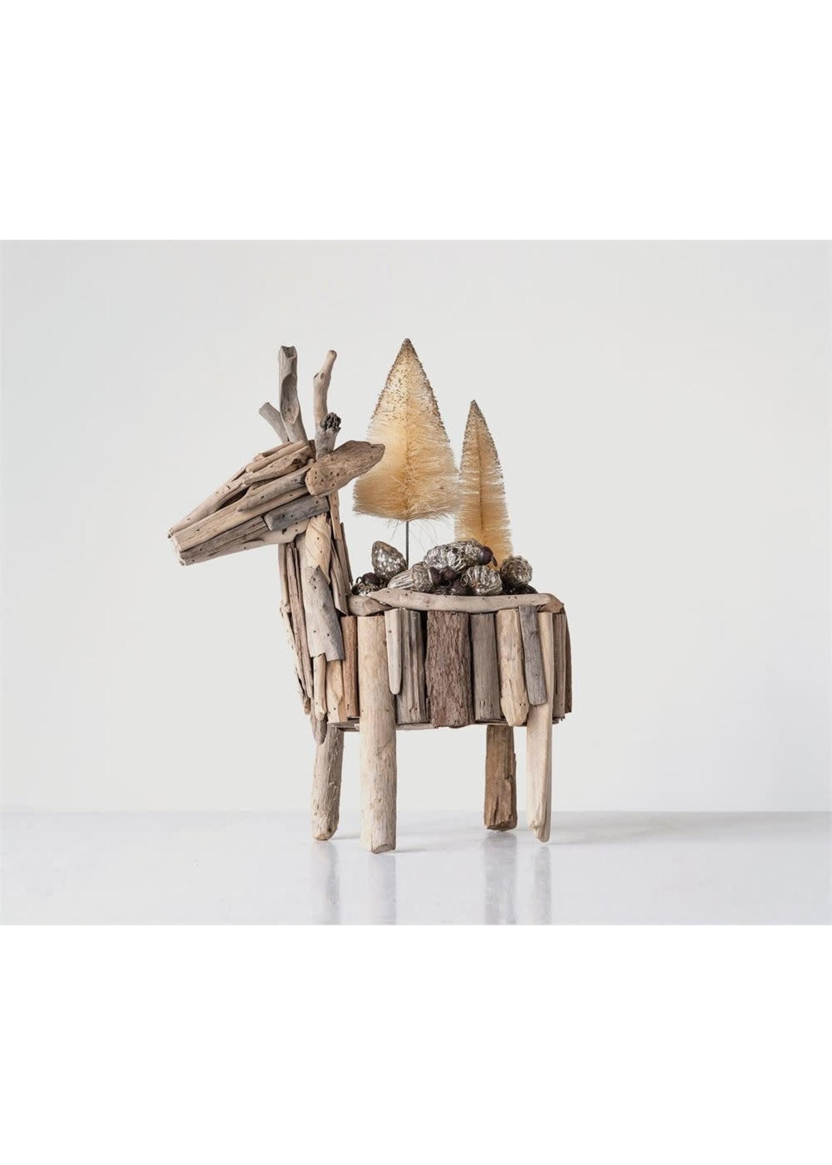 Driftwood Deer Planter