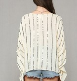 Cream Glammed Sequin Top