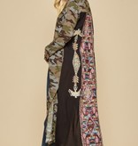 Black Back Camo Embroidered Maxi