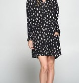 Smudge Print Dress