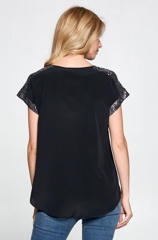 Glistening Shoulder Top