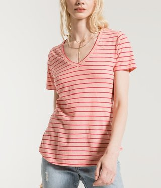 Yuma Stripe Linen V neck