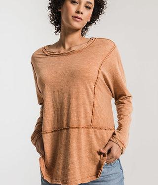 Wood Slub Long Sleeve top