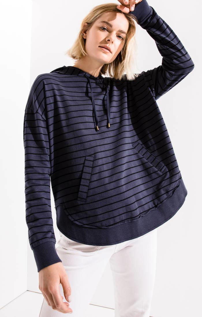Indigo Striped Dakota Pullover