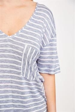 L Love Striped Pocket Tunic
